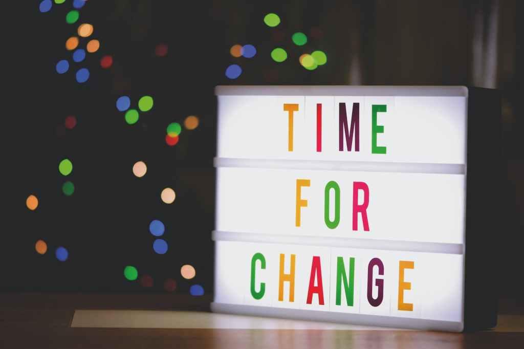 Değişim zamanı geldi